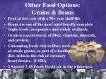 other food options grains beans