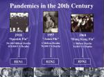 pandemics in the 20th century