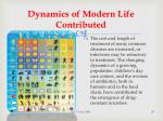 dynamics of modern life contributed