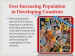 ever increasing population in developing countries