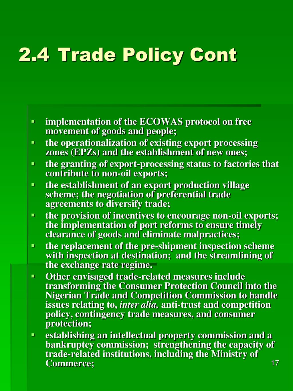 2.4Trade Policy Cont