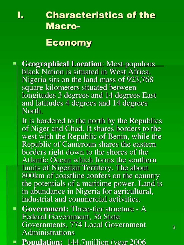 Characteristics of the Macro-