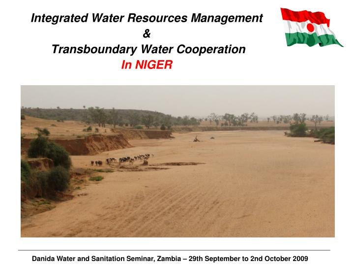 Integrated water resources management transboundary water cooperation in niger