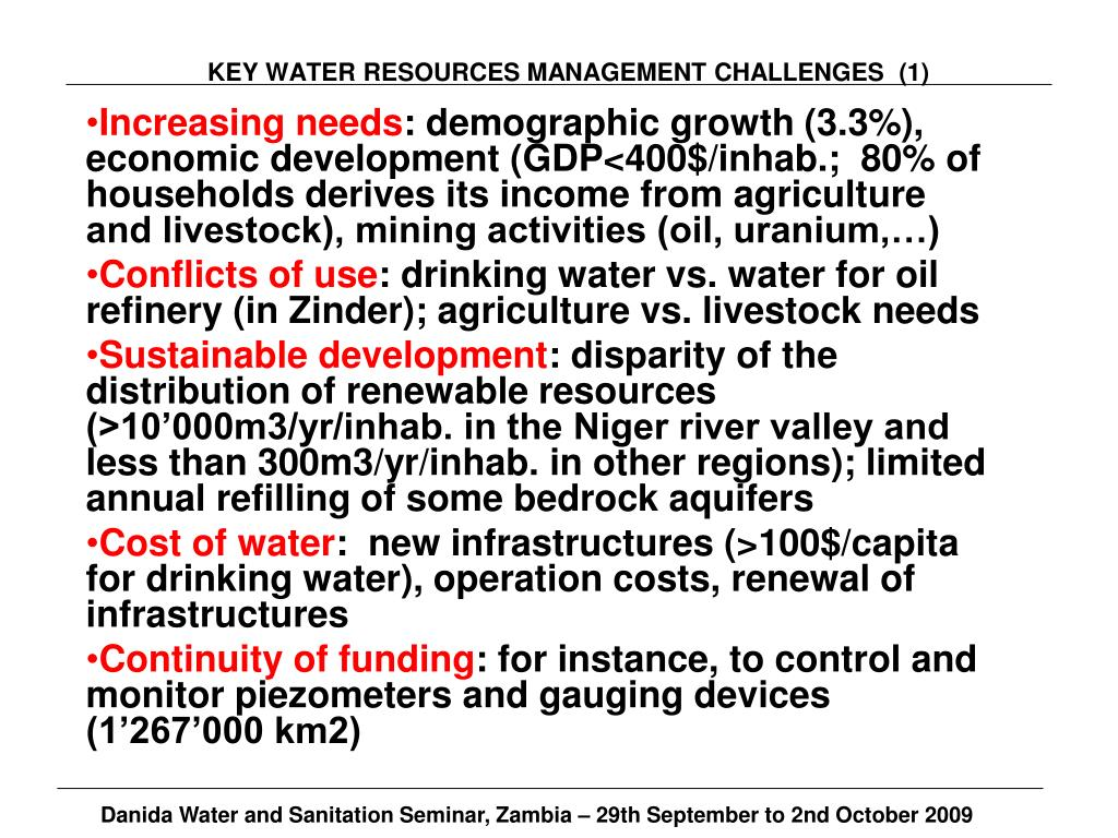 KEY WATER RESOURCES MANAGEMENT CHALLENGES  (1)