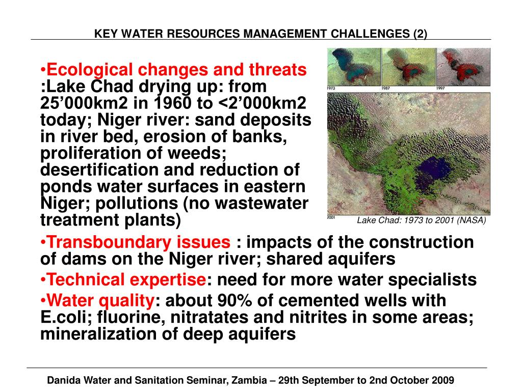 KEY WATER RESOURCES MANAGEMENT CHALLENGES