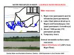 water resources in niger 1 surface water resources
