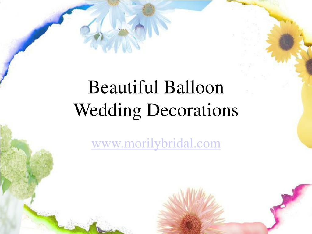 beautiful balloon wedding decorations l.