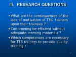 iii research questions