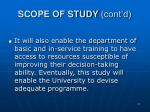 scope of study cont d47