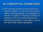 vii conceptual framework
