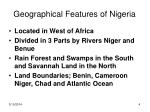 geographical features of nigeria