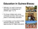 education in guinea bissau