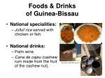 foods drinks of guinea bissau