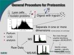 general procedure for proteomics