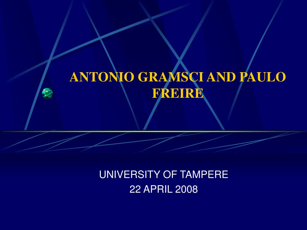antonio gramsci and paulo freire l.