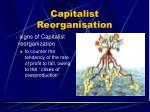 capitalist reorganisation