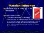 marxian influence8