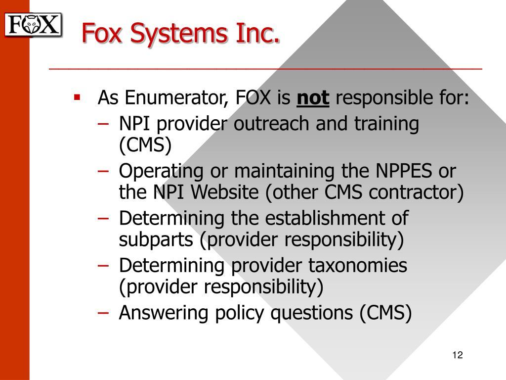 Fox Systems Inc.
