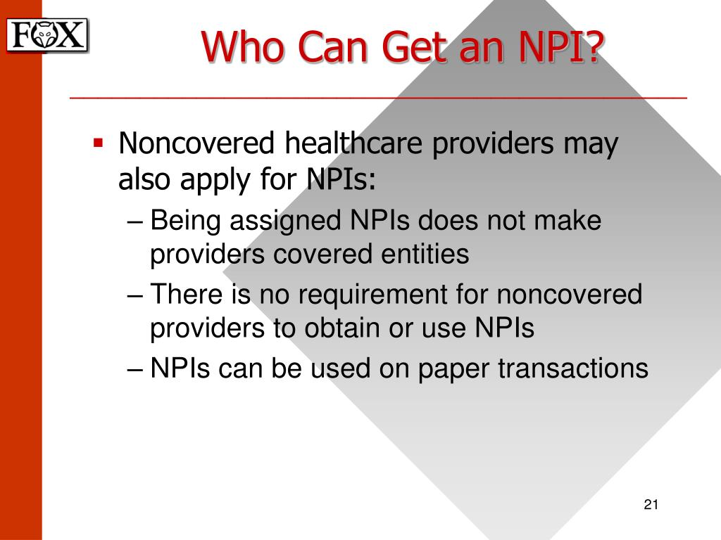 Who Can Get an NPI?