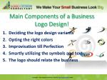 main components of a business logo design