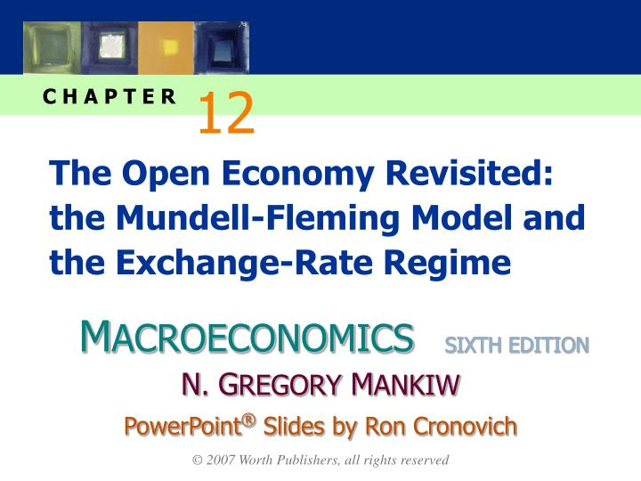 the open economy revisited the mundell fleming model and the exchange rate regime n.