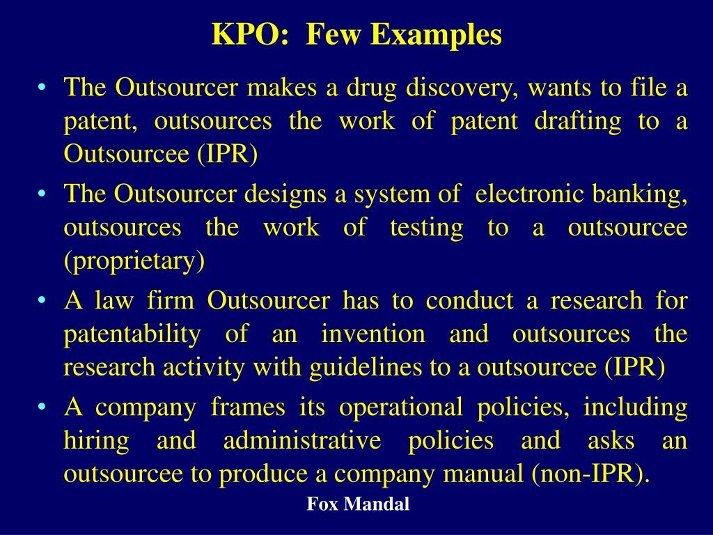 KPO:  Few Examples