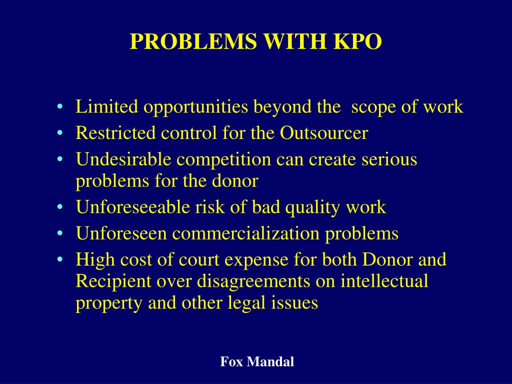PROBLEMS WITH KPO
