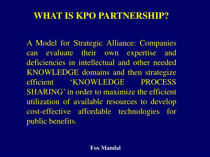 WHAT IS KPO PARTNERSHIP?