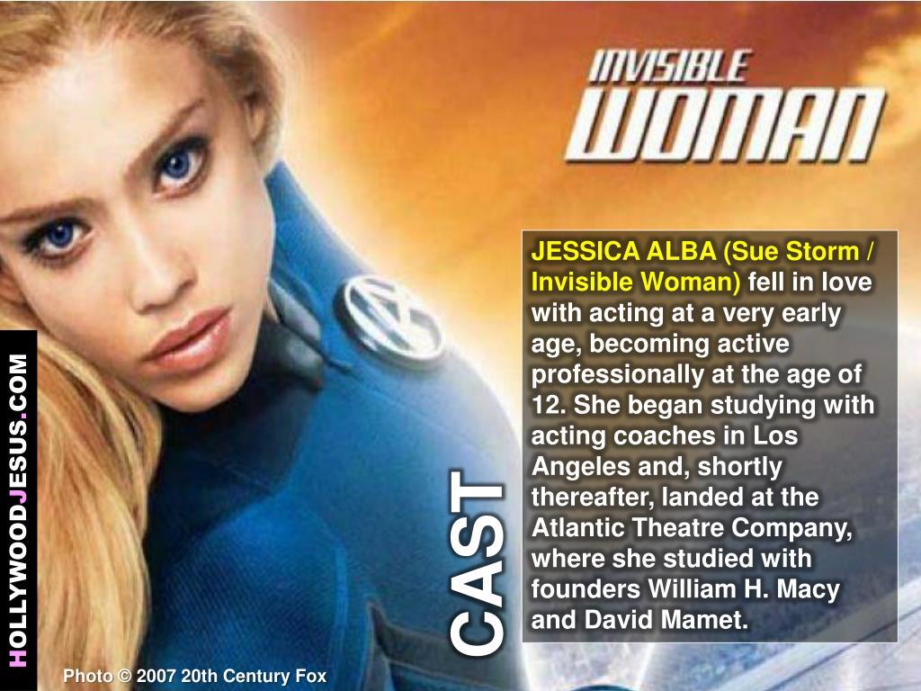 JESSICA ALBA (Sue Storm / Invisible Woman)