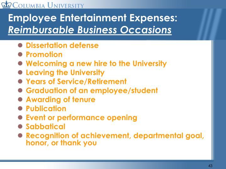 Employee Entertainment