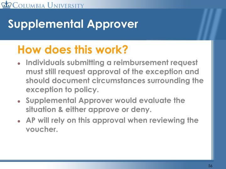 Supplemental Approver