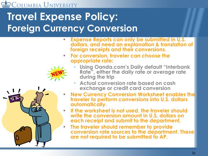 Travel Expense Policy: