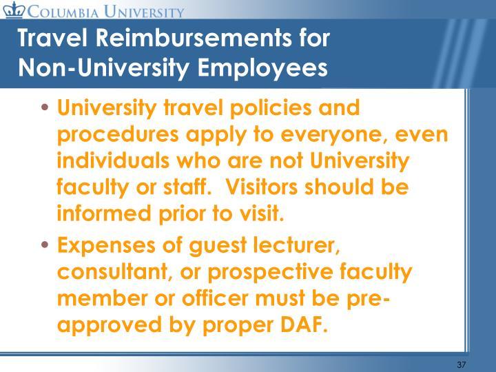 Travel Reimbursements for