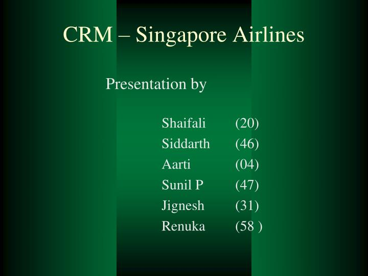 crm singapore airlines n.