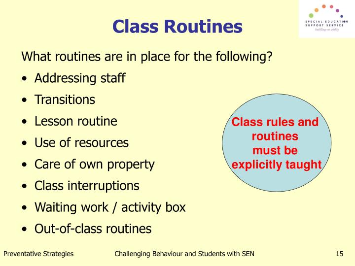 class routine
