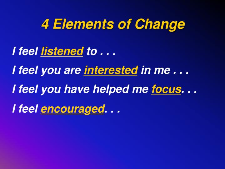 4 Elements of Change