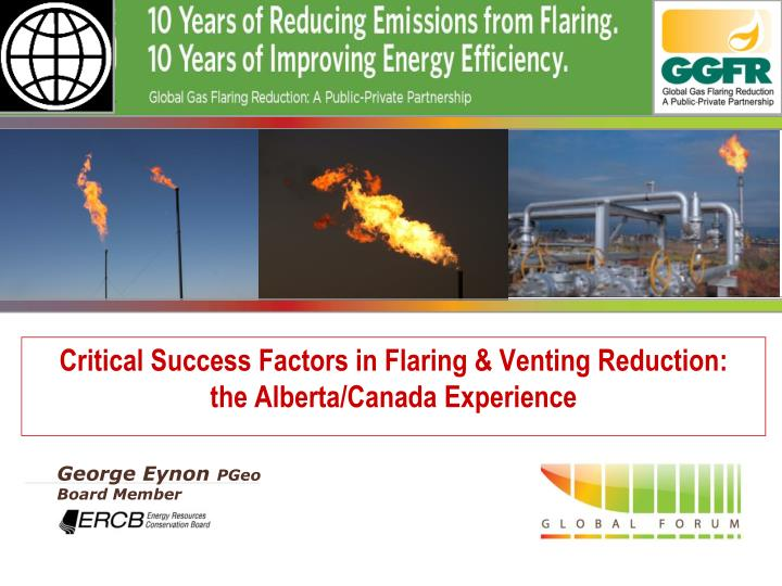 critical success factors in flaring venting reduction the alberta canada experience