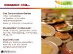 economic test