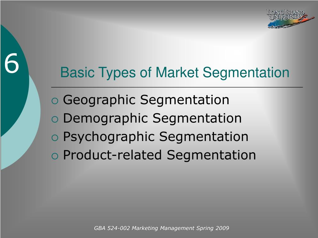 Basic Types of Market Segmentation