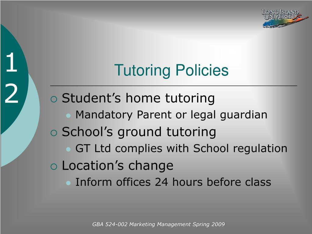 Tutoring Policies