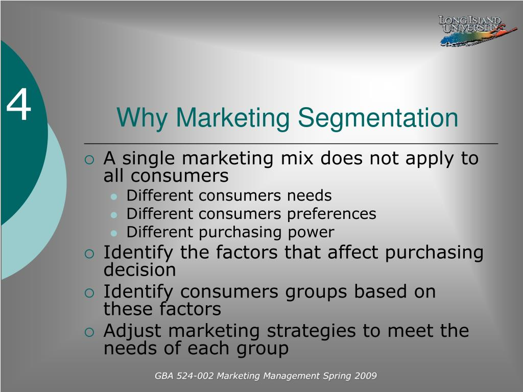 Why Marketing Segmentation