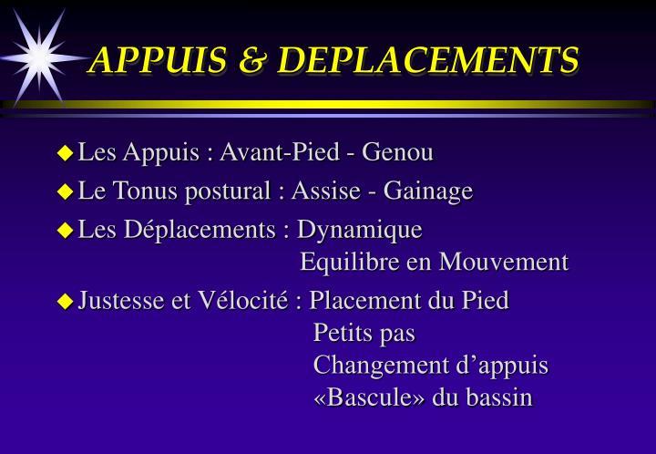 APPUIS & DEPLACEMENTS