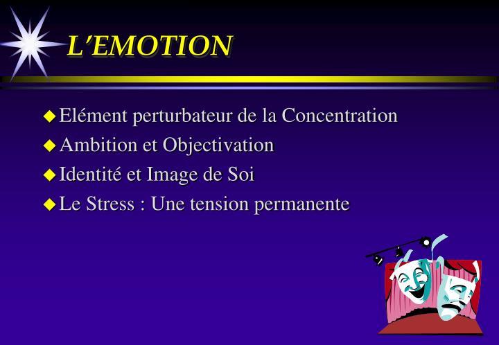 L'EMOTION