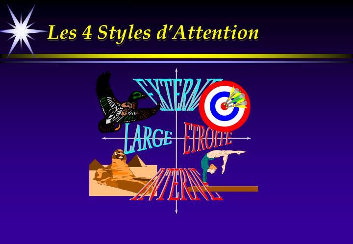 Les 4 Styles d'Attention