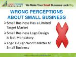 wrong perceptions about small business