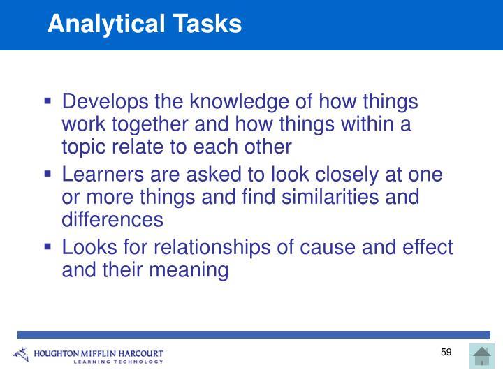 Analytical Tasks