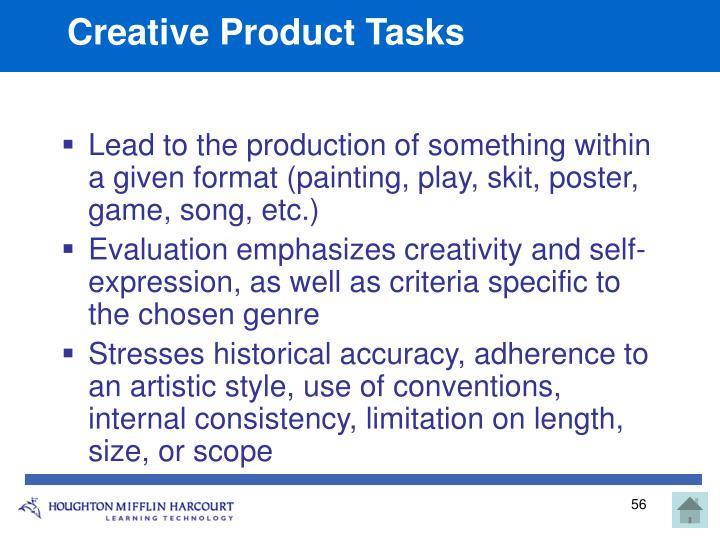 Creative Product Tasks