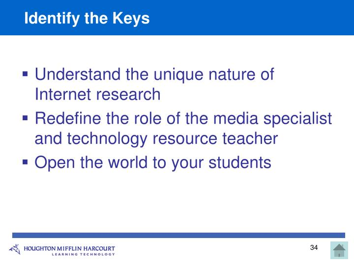 Identify the Keys