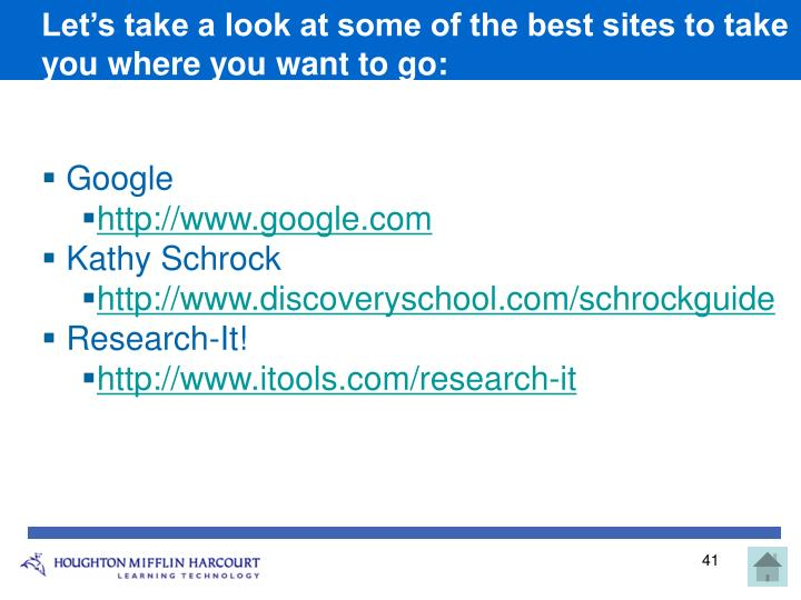 Let's take a look at some of the best sites to take you where you want to go: