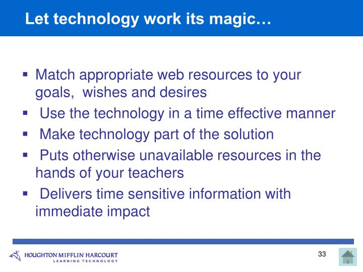 Let technology work its magic…